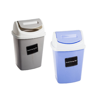 Plastic Swing Top Wastepaper Bin