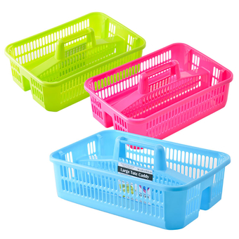 Plastic 2 Division Basket With Handle