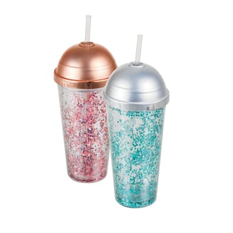 Double Wall Tumbler With Straw And Lid