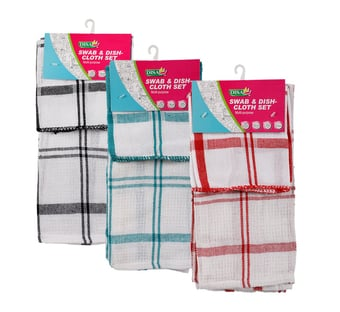 Dish Cloth Swab Set