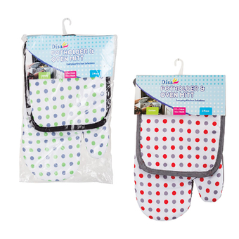 Oven Glove & Potholder Set
