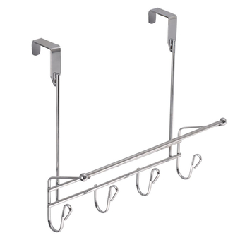 "Chrome Plated ""Over Door"" Hanger 4 Hooks"