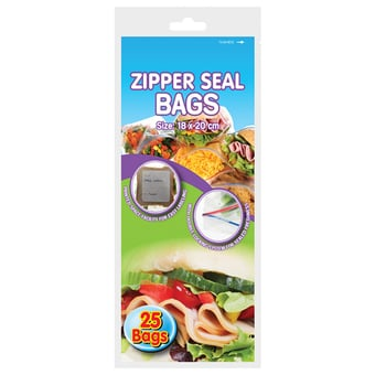 Zipper Seal Storage/Freezer Bags