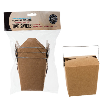 Brown Paper Party Box With Handle
