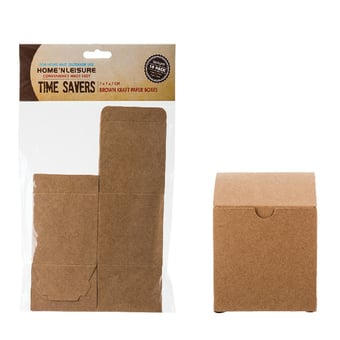 Brown Paper Party Boxes Square