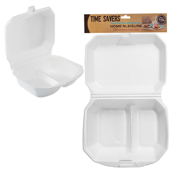 Disposable Foam 2 Division Containers