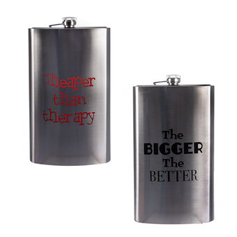 Giant 27cm Hip Flask With Words