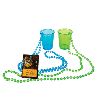 Plastic Shot Glass With Necklace