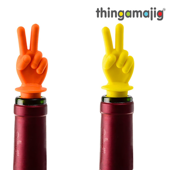 Thingamajig Bottle Stopper Peace Sign