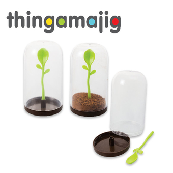 Thingamajig Plastic Storage Jar 'Sprout'