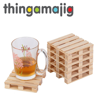 Thingamajig Wooden Pallet Coaster