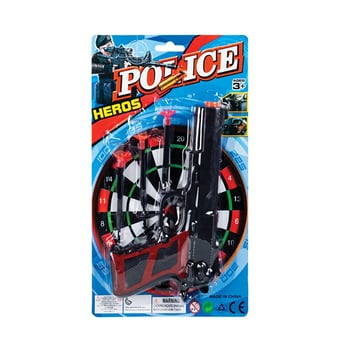 Police Gun Set With Suction Darts
