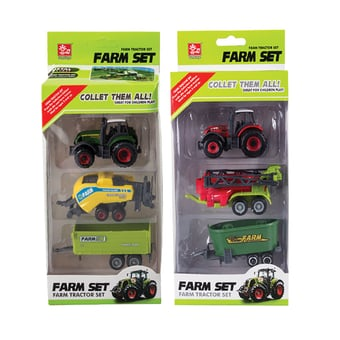 Die Cast Farm Truck Trailer Set