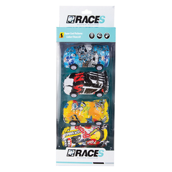 Racer Graffiti Car 4pc