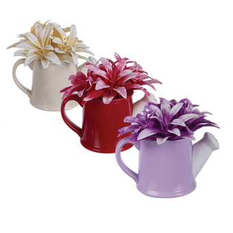 Artificial Flower In Watering Can