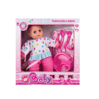 Baby Doll With Feeding Accessories