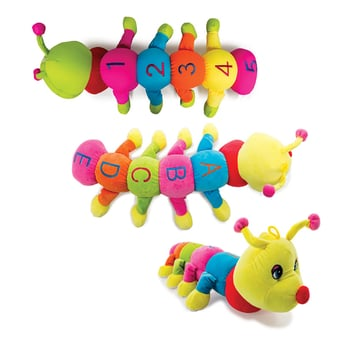 Soft Toy Caterpillar With Foambeads