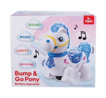 Bump & Go Battery Operated Pony