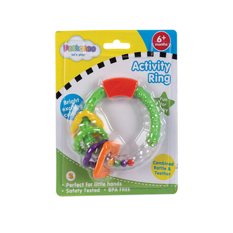 Baby's Rattle With 4 Rings