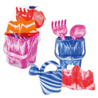 Tie Dye Beach Bucket and Accessories