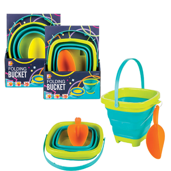 Collapsable Beach Bucket With Spade
