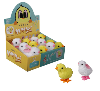 Bouncing Wind Up Chick & Bunny