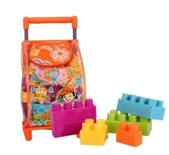 Trolley Bag With Building Blocks