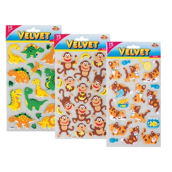 Velvet Puffy Stickers