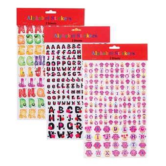Number And Letter Stickers