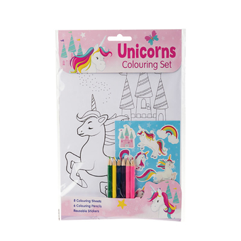 Unicorns Colouring Set