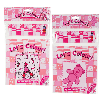Pink Colouring Set