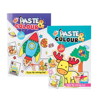 Paste & Colour Sticker Book