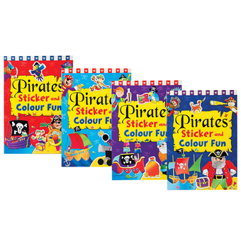 Pirates Sticker And Colour Fun