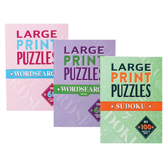Large Print Puzzle Books